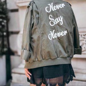 ALICE + OLIVIA never say never cargo jacket